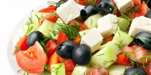 Photo of Greek Salad to represent Fundraiser Dinner