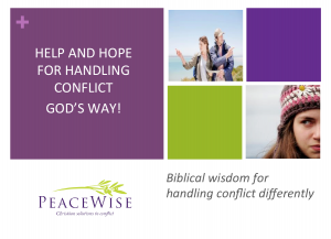 Help and hope for handling conflict God's way